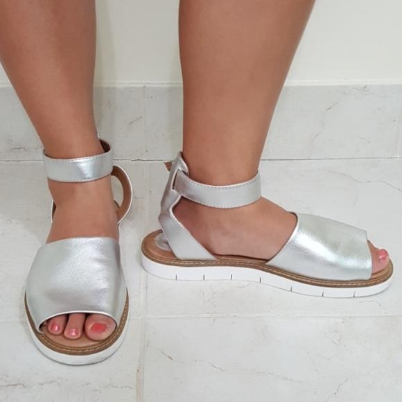 4e8087e055d1 Clarks Shoes - Clarks Artisan Lydie Hala Silver White Flat Shoe